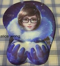 Overwatch Mei Game Girl Soft Chest 3D Silicon Mouse Pad Mat OW Pad Wrist Rest bi