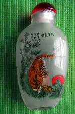 More details for japanese tiger and pine fine detailed reverse inside hand painted snuff bottle a