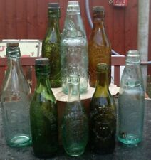 More details for  eight antique c.20th gloucester codd's/mineralwater/ beer bottles