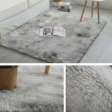 50X160CM Shaggy Tie-dye Gradient Carpet Plush Area Rugs Bedroom Floor Mats Home