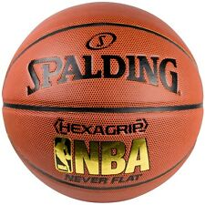 Spalding NBA Never Flat Hexagrip Composite Leather Basketball | Size 7