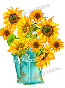 Clear Wall & Furniture STICKER Extra Large A3 /Cut & Stick/ Sunflowers  /913