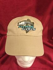 Ball Cap Hat SHAKESPEARE FEEDING FRENZY Fishing Cap Big Bass Tan NWOT