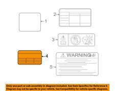 KIA OEM 14-16 Forte Koup Label-AC A/C Sticker 97699A7100