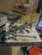 Diorama WWII bataille des ardennes Longchamp du musée Bastogne Historical Center