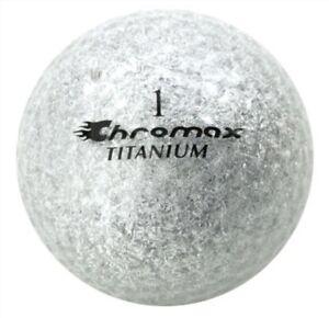 New Chromax Titanium Metallic IIx M2x Colored 2 Dozen 24 Golf Balls Silver Loose