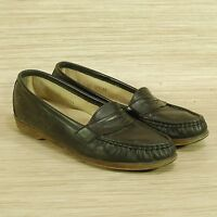 SAS Tripad Comfort Black Leather Penny Loafers Women's 8.5 N Handsewn Shoes USA