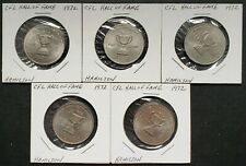 Lot of 5x 1972 Hamilton CFL Hall of Fame Tokens - Great Condition