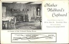 Randolph MA Mother Hubbard's Cupboard View & Map - Postcard