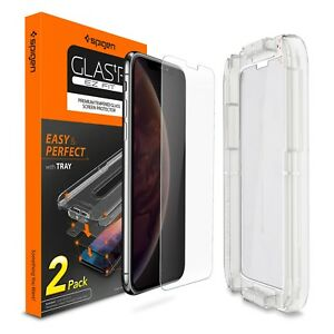 [2 PK] iPhone X XS XS MAX XR Screen Protector Sensor [Glas.tR] Spigen®EZ FIT