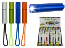 Lightweight Aluminium Metal LED Pocket Torch (choice of Colours)