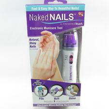 Naked Nails Electronic Manicure System File Buff Shine New Box