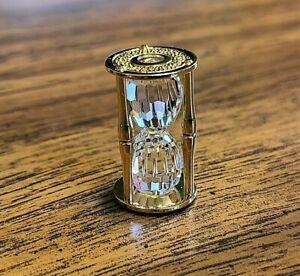 Swarovski Crystal Memories Gold Plated Miniature Hourglass Figurine, Box, COA