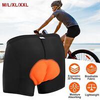 3D Padded Mens Cycling Shorts Bicycle Road Bike Underwear/Shorts/Pants BLACK