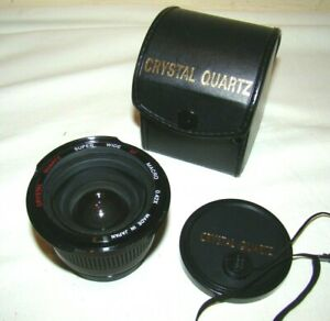 CRYSTAL QUARTZ Super Wide AF Macro 0.42X Camera Lens 44mm Screw Mount 1989 VGC