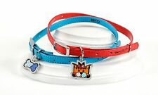 ROMERO BRITTO BLUE  COLLAR WITH METAL BONE  ** NEW **