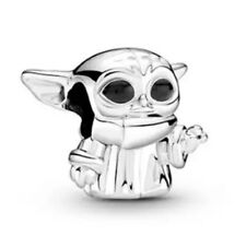 💎🎀 STERLING SILVER 925 STAR WARS THE CHILD BABY YODA CHARM & POUCH
