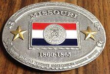 "4"" x 3"" Missouri State Flag Belt Buckle New"