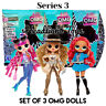 3 LOL Surprise Series 3 OMG Fashion Doll Class Prez Da Boss Roller Chick In Hand