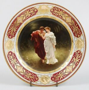 Antique Royal Vienna Dresden Porcelain Hand Painted Signed