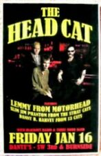 THE HEAD CAT LEMMY Motorhead 2009 Gig POSTER Portland Oregon Concert