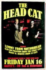 THE HEAD CAT LEMMY Motorhead 2009 Gig POSTER Portland Oregon Concert