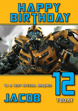 Transformers Birthday Card Personalised A5 Large any Name Age