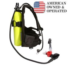 EASY DIVE Mini Scuba & Snorkel Kit/19 cu ft Pony Bottle/30 minutes air/Spare Air