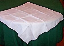 """Vintage Homespun Jacquard Woven Linen Table Topper, Tablecloth, """"A"""" Mono, c1880"""