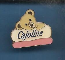Pin's pin MASCOTTE PETIT OURS CAJOLINE  (ref 064)