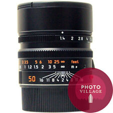 Leica M 50mm f/1.4 Summilux ASPH Black Chrome Lens -- CERTIFIED PRE-OWNED