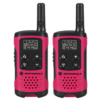 Motorola Talkabout T107 Two-Way Radio, 2 Pack, Pink