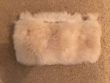 MADEWELL INFINITY SHEARLING SCARF LIGHT CAMEL F9422