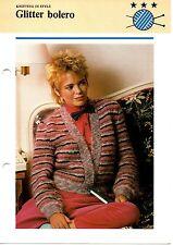 GLITTER BOLERO knitting pattern - Odhams pamphlet