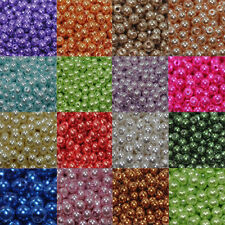 20-500Pcs Wholesale Acrylic Pearl Round Spacer Loose Beads 4mm/6mm/8mm/10mm HOT