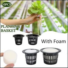 10Pcs Mesh Pot Net Basket Cup Hydroponic Garden Vegetable Plant Grow Foam Insert