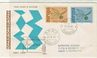 Italy 1965 Europa Registered Slogan CEPT Roma Cancels FDC Stamps Cover ref 22456
