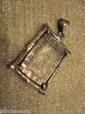 1859 ICHIBU GIN COIN BAR SILVER SAMURAI JAPANESE HAND CRAFTED PENDANT wow gift!