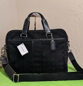 Coach 70181 Unisex Signature Hudson Laptop Business Tote Shoulderbag Briefcase