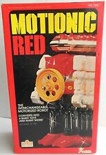 Motionic Red Robot Bandai Japan No.7992 Vintage Battery Operated Plastic Works!