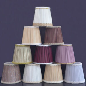 French Country Lampshade Chiffon Pleated Cloth Table Ceiling Candle Light Cover