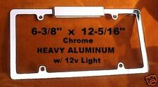 ALUMINUM Show Chrome License Plate Frame w/ LIGHT Deluxe. Beautiful.