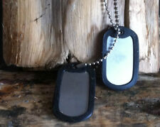 STAINLESS STEEL ARMY MILITARY DOG TAGS ENGRAVED PERSONALISED FREE ENGRAVING