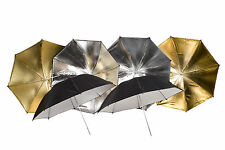 2x Reflexschirm Silber  2x Gold 2x Weis 90/90/90cm mit Tasche