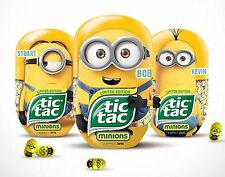 Minion Tic Tac, Banana, Lmt. Ed. Set of 3 Jumbo Despicable Me - FREE SHIPPING