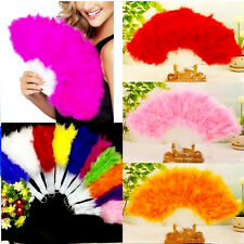 Beauty Large Belly Dance Costume Feather Folding Hand Fan 10 Colors New