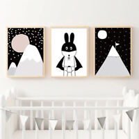 Night Sky over the Mountain Home Decor Canvas Print A4 Size 210 x 297mm