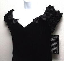 Victoria's Secret Long Black Evening Dress Size 10 Off the Shoulder Holiday