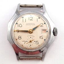 Antique Soviet VOSTOK 2605 windup watch Uncommon octagonal case, Creme dial #358