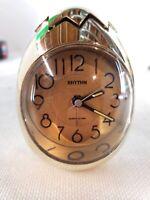 Rhythm Silver Egg Quartz Alarm Clock